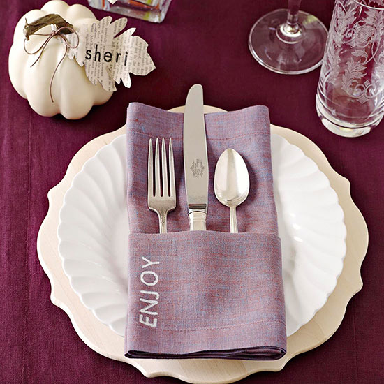 Napkins and Place Cards