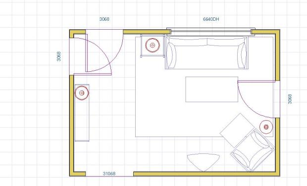 Lively Living Room Layout 2