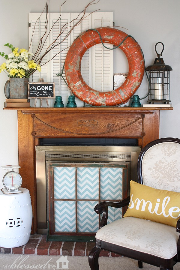 Decorating Ideas > Decorating A Fireplace Mantel  Interiors By Kelley Lively ~ 141146_Fireplace Mantel Decorating Ideas For Summer
