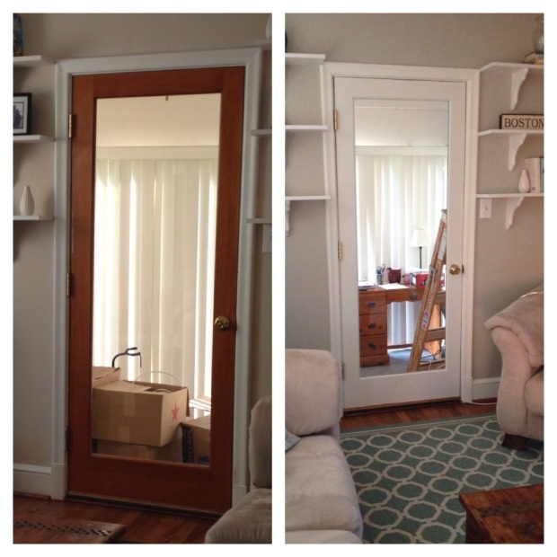 Painting Wood Trim White Before And After: Interiors By Kelley Lively