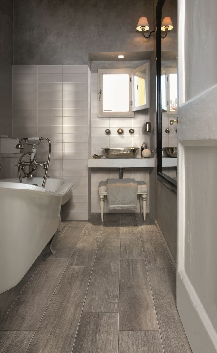 Wood tile vs real wood flooring interiors by kelley lively bathroom tile dailygadgetfo Images